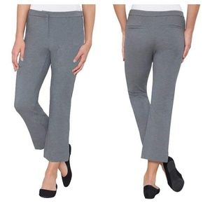 NWT Grey ankle cropped work pants-M